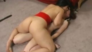 Lesbian Bondage facesitting on webcam