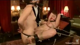 Bound babes strapon fuck and whipped